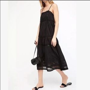 Free People This Is It Slip Maxi Dress Black